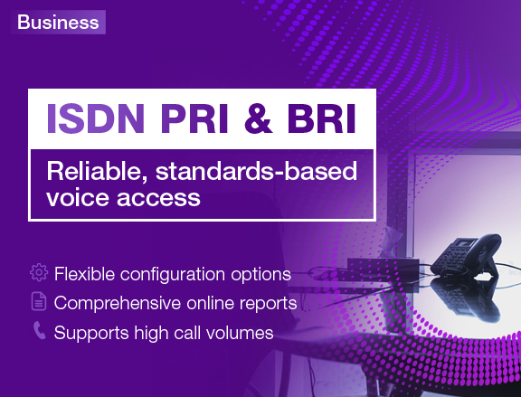 TPG ISDN PRI & BRI - Reliable, standard-based voice access mobile banner