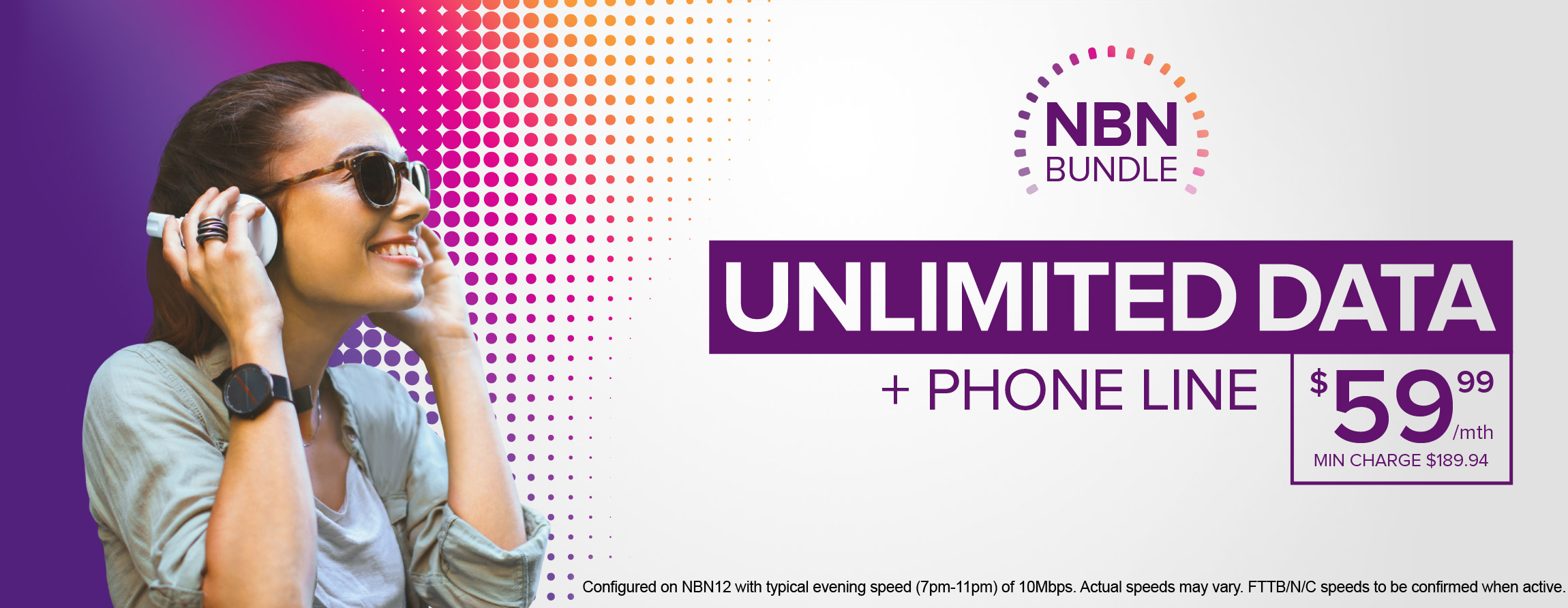NBN with Phone Bundle - Unlimited Data for $59.99 per month